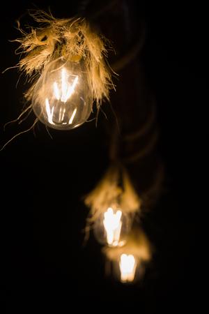 nostalgic lamps background Stock Photo