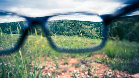 Con gafas punto de enfoque