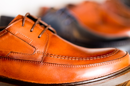 mens shoes and close-up photography