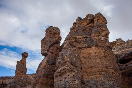 A rock formation in the city of Konya