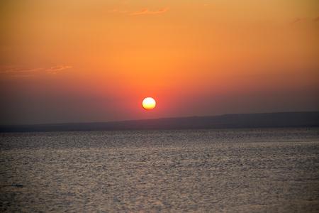 Reflections from Sunset Salt Lake in Konya