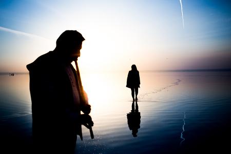 sunset and photo shoot in salt lake 版權商用圖片
