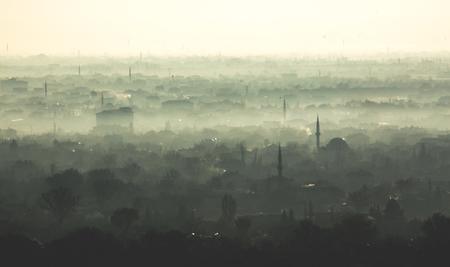 Konya city during winter