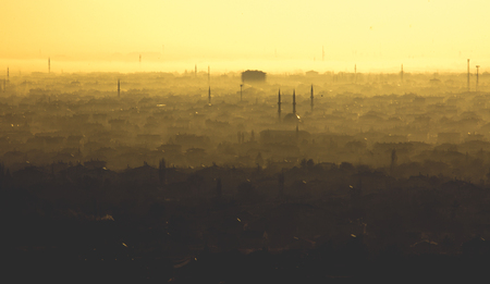 Konya city in winter