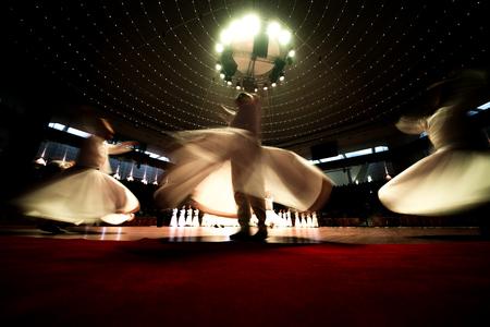 KONYA; TURKEY - December 15; 2015; Whiriling dervishes perform religious dance ceremony on December 15; 2015 in Konya.