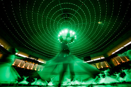KONYA; TURKEY - December 15; 2015; Whiriling dervishes perform religious dance ceremony on December 15; 2015 in Konya.