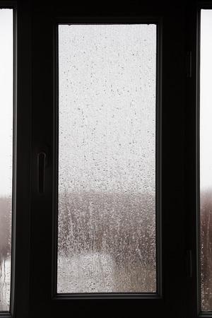 raindrop on the house window