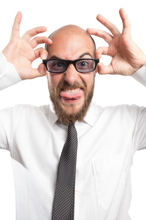 Crazy Angry and FunnyBusinessman Stock Photo - 21777426