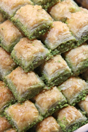 Traditional Turkish dessert Baklava photo
