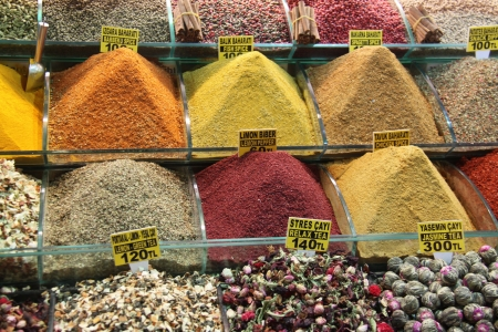 Oriental spices in istanbul market  Stock Photo - 13935022