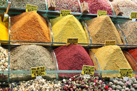 Oriental spices in istanbul market  photo