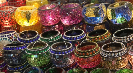 Turkish lamps in the Grand Bazaar, Istanbul, Turkey photo