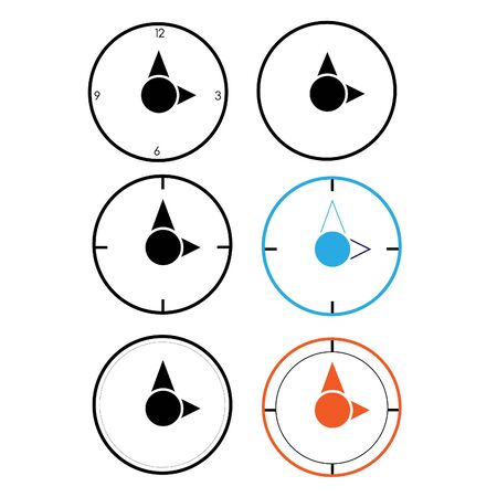 Hollow color clocks