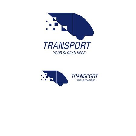 transportation vector logo drawing Ilustracja