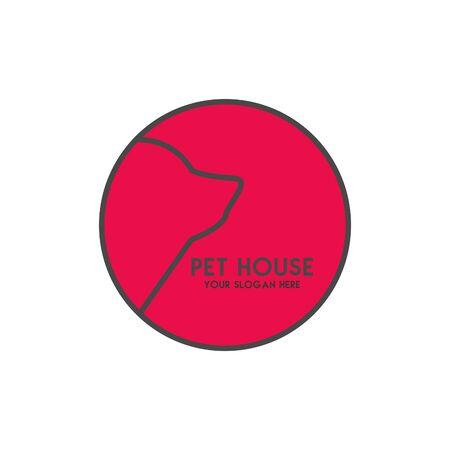 Pet House Logos (Cat, Dog, Birds) Vector Banque d'images - 130118812