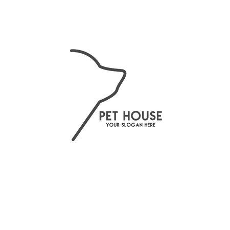 Pet House Logos (Cat, Dog, Birds) Vector Banque d'images - 130118813