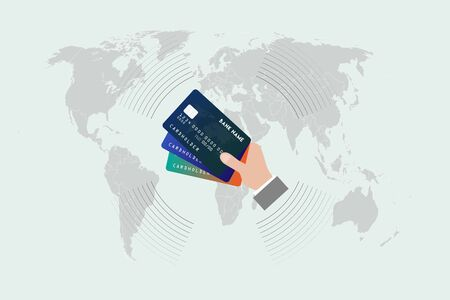 We can shop anywhere in the world with a credit card, vektor work