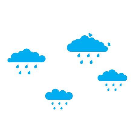 Rain Sky Set Vector Teamwork