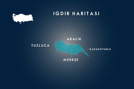 Ä°gdir districts Tuzluca, Aralik, Karakoyunlu map, Turkey