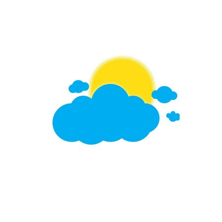 Sun appearing behind cloud Ilustrace