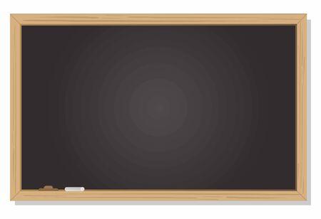 Blank blackboard on black background vector work
