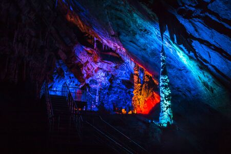 Formations inside the Gokgol Cave, Zonguldak, Turkey, September 5, 2019, Zonguldak, Turkey