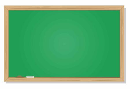 Blank blackboard on green background