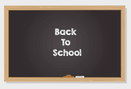 Back to school concept drawn on chalkboard vector work