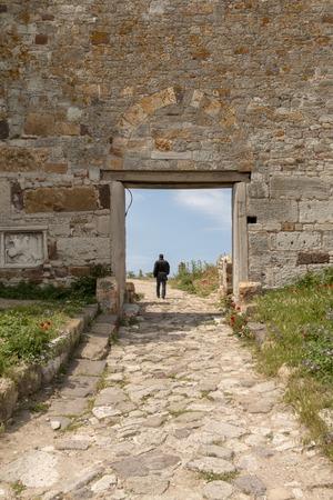 Historic castle in the enez county of Edirne, May 21, 2019, Edirne , Turkey Editöryel