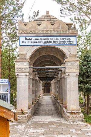 Erzincan Tailor Father Cemetery ( Erzincan Terzi Baba Mezarligi ve Turbesi), September 10,2019, Erzincan, Turkey Editorial