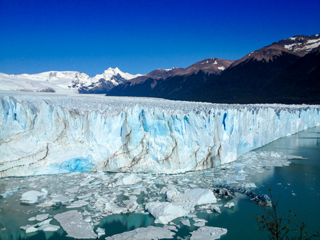 Frozen ice landscape.