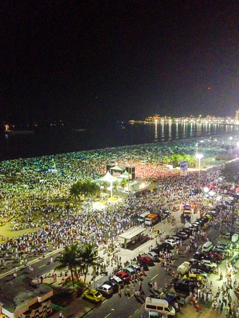 New year night Rio De Janeiro Editorial