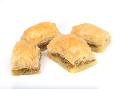 turkish dessert: Baklava of turkish dessert Stock Photo