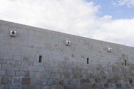 cast wall with sky Stok Fotoğraf