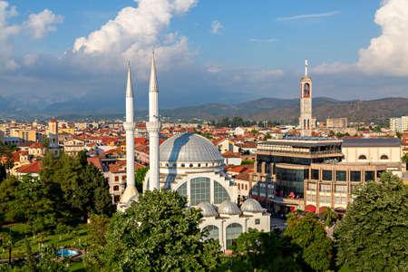 Skyline of Shkodra known also as Shkoder, Albania