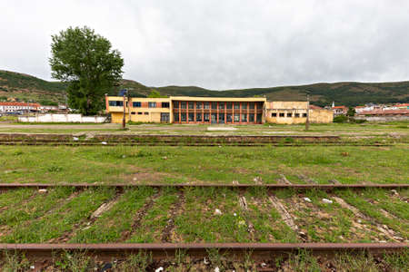 Abandoned old train station from communist era in Albania