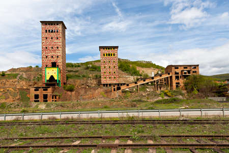 Abandoned factory from the communist era, in Albania Editorial