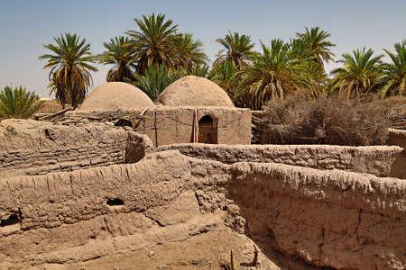 Abandoned adobe village houses in Shafiabad, Iran Reklamní fotografie