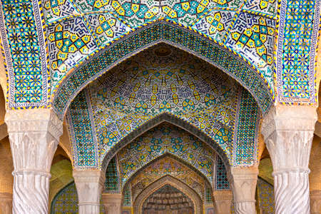 Arches of the Vakil Mosque in Shiraz, Iran