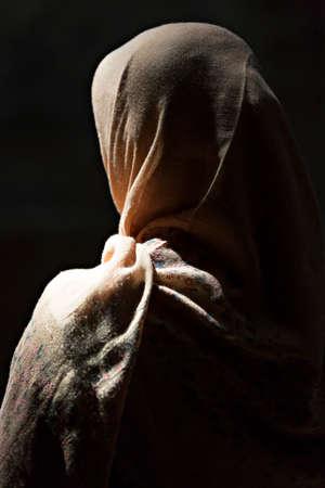 Muslim woman in scarf in Iran