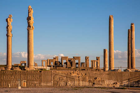 Remains Of The Ancient Persian City Of Persepolis Near Shiraz Stock Photo Picture And Royalty Free Image Image 156324341
