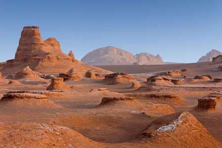 Lut desert in Iran with rock formations known as Kaluts Reklamní fotografie