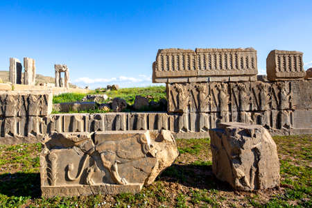 Remains Of The Ancient Persian City Of Persepolis Near Shiraz Stock Photo Picture And Royalty Free Image Image 156420606