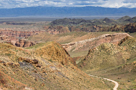 Charyn Canyon in Kazakhstan known for its interesting rock formations.