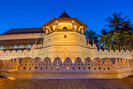 Temple of Tooth Relic at the twilight, in Kandy, Sri Lanka