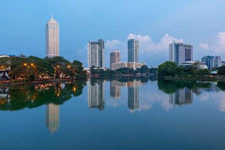 Skyline of Colombo, capital of Sri Lanka
