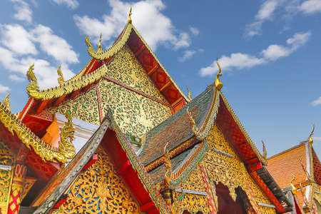 Buddhist Temple and Pagoda known as Wat Phra That Doi Suthep, in Chiang Mai, Thailand.