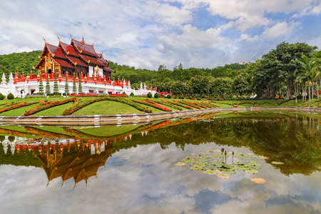 Royal flora park known also as Park Rajapruek, in Chiang Mai, Thailand