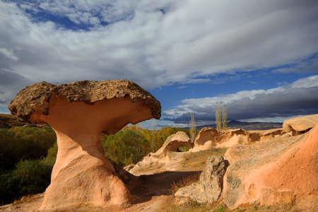 Volcanic rock formation known as Mushroom Rock, Cappadocia, Turkey