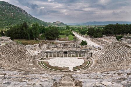 Roman amphitheater in Ephesus in Selcuk, Izmir, Turkey